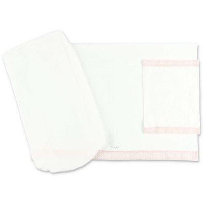 Modì white cotton sheet set with pillowcase
