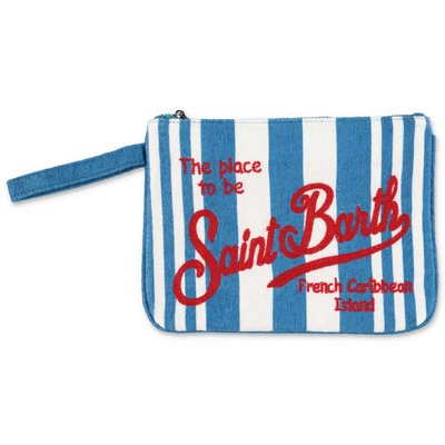 MC2 Saint Barth striped terrycloth purse