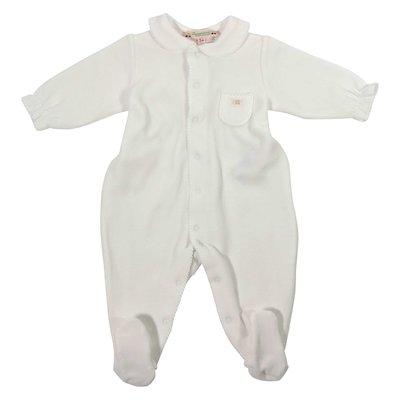 white short-sleeved pajama