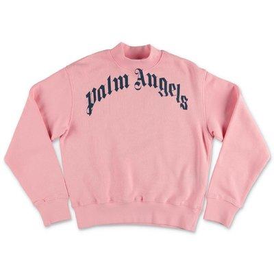 PALM ANGELS felpa rosa in cotone