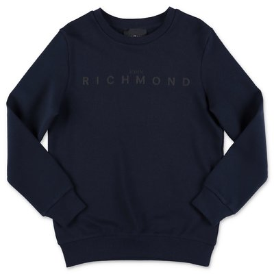 John Richmond dark blue cotton sweatshirt