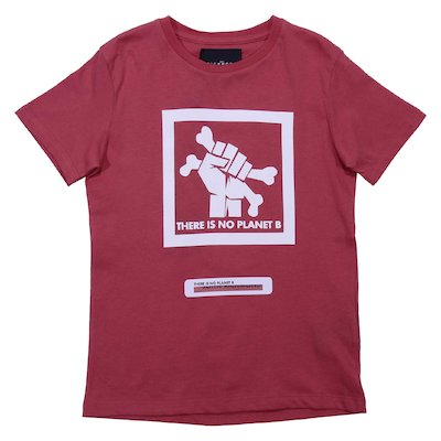 Red cotton jersey t-shirt