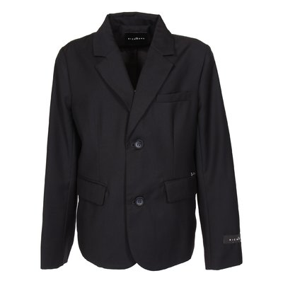 John Richmond dark blue viscose blend elegant jacket