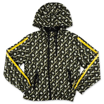 JOHN RICHMOND printed nylon waterproof jacket with hood