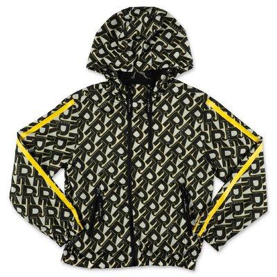 JOHN RICHMOND giacca a vento stampata in nylon con cappuccio