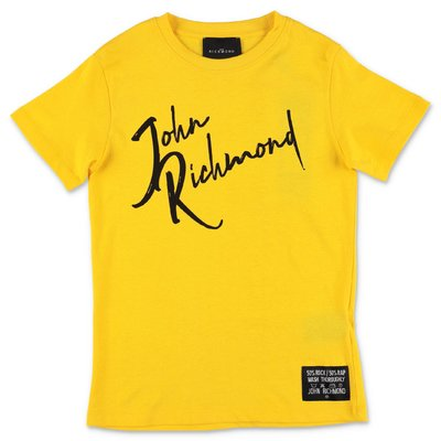 John Richmond t-shirt gialla in jersey di cotone