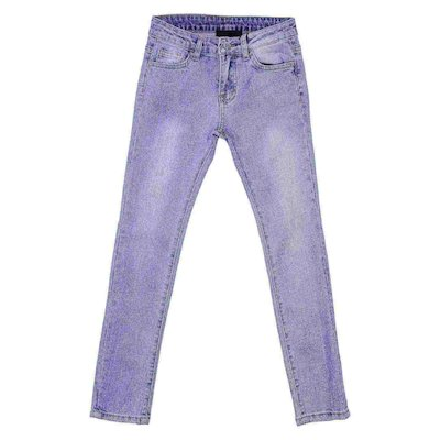 Jeans blu in cotone denim stretch