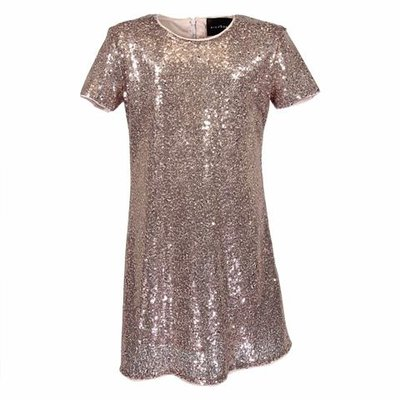 Bronze dress with sequin