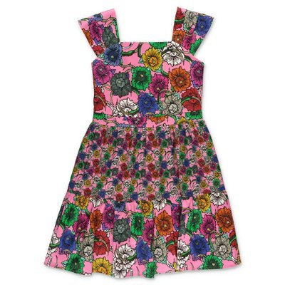 John Richmond pink floral print cotton popeline dress