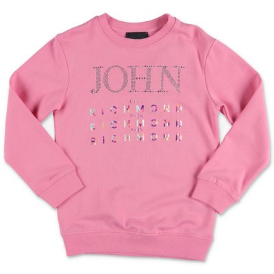 John Richmond felpa rosa in cotone