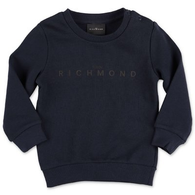 John Richmond felpa blu navy in cotone