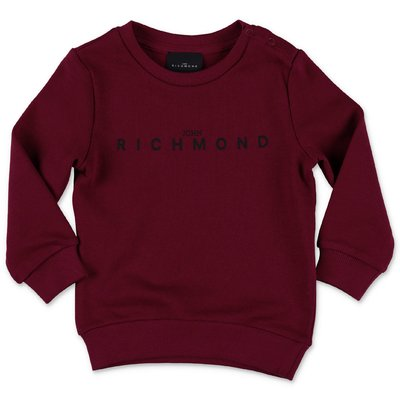 John Richmond burgundy cotton sweatshirt
