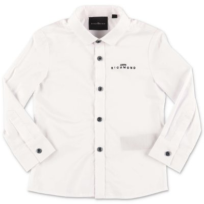 John Richmond white cotton poplin shirt