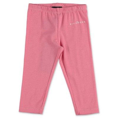John Richmond leggings rosa in cotone stretch