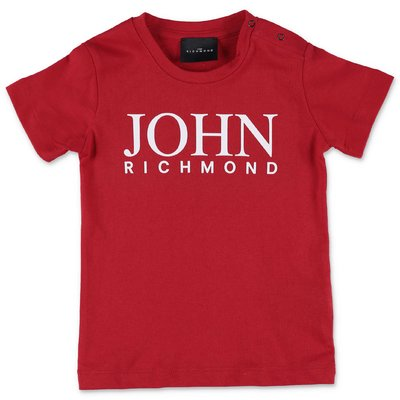 John Richmond t-shirt rossa in jersey di cotone
