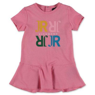 JOHN RICHMOND abito rosa in jersey di cotone