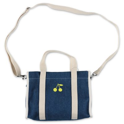 Bonpoint borsa blu in denim di cotone