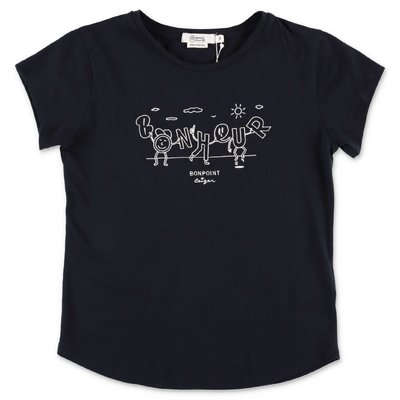 Bonpoint navy blue cotton jersey t-shirt