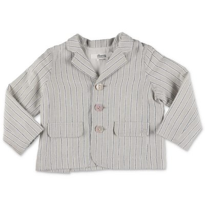 Bonpoint grey striped linen & cotton jacket