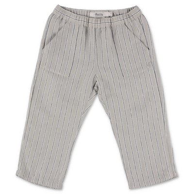 Bonpoint grey striped linen & cotton pants