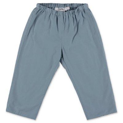 Bonpoint pantaloni azzurri in popeline di cotone