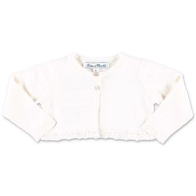 Tartine & Chocolat white knit cotton cardigan