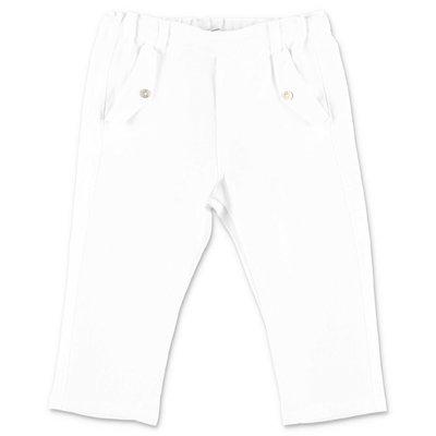 Tartine & Chocolat pantaloni bianchi in cotone
