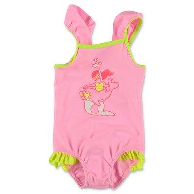 BillieBlush pink lycra one-piece swimsuit