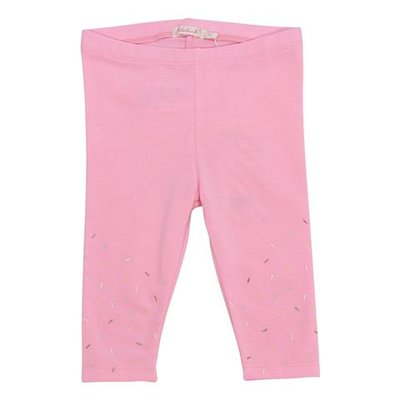 BillieBlush fluorescent pink stretch cotton blend leggings
