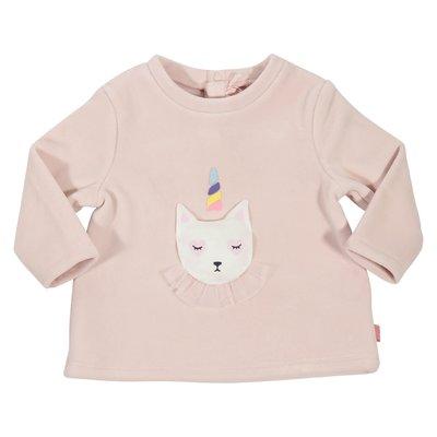 Powder pink chenille sweatshirt