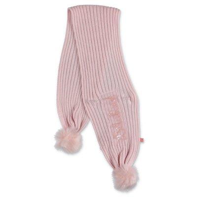 BillieBlush sciarpa rosa in maglia