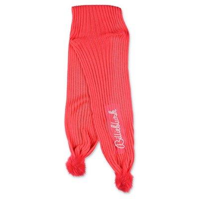 BillieBlush sciarpa rosa fluo in maglia