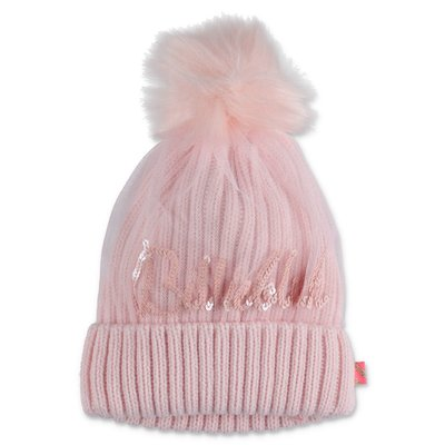 BillieBlush pink knit hat