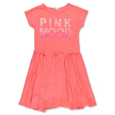 BillieBlush fluo pink cotton jersey dress