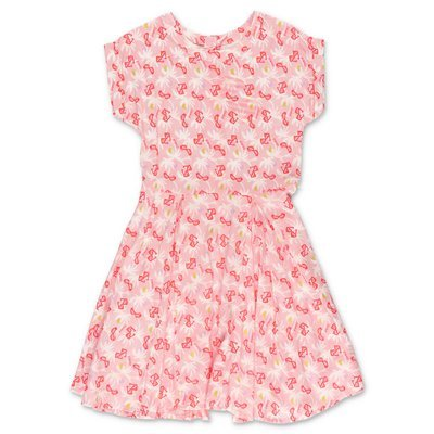 BillieBlush pink printed viscose dress