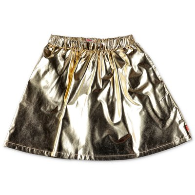 BillieBlush golden techno fabric metal effect skirt