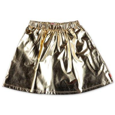 BillieBlush golden techno fabric metal effect skirt
