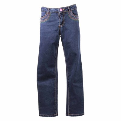 Blue stretch denim cotton jeans