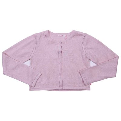 Pale pink viscose cardigan