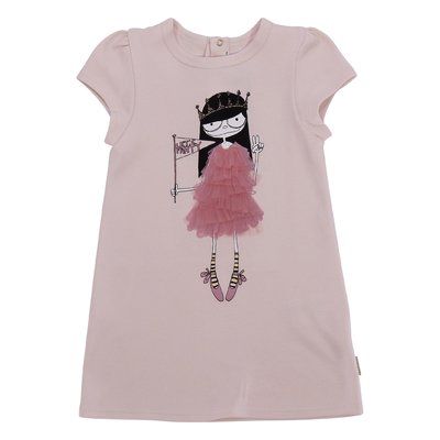 Little Marc Jacobs powder pink cotton jersey dress