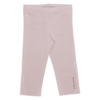 Powder pink stretch cotton  leggings