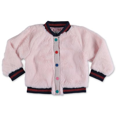 Little Marc Jacobs pink faux fur jacket