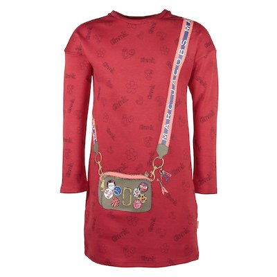 red printed girl cotton jersey dress