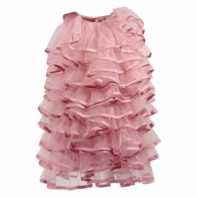 Pink tulle formal dress