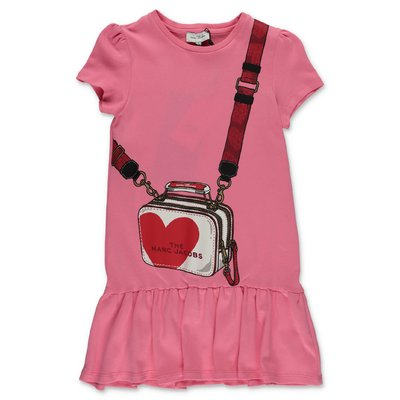 Little Marc Jacobs pink cotton jersey dress
