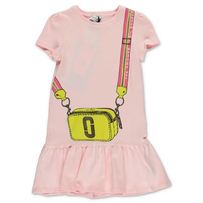 Little Marc Jacobs abito rosa in jersey di cotone