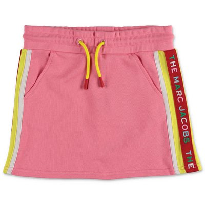 Little Marc Jacobs pink cotton sweat skirt