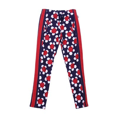 Daisy print girl cotton interlock sweatpants
