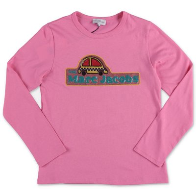Little Marc Jacobs t-shirt rosa in jersey di cotone