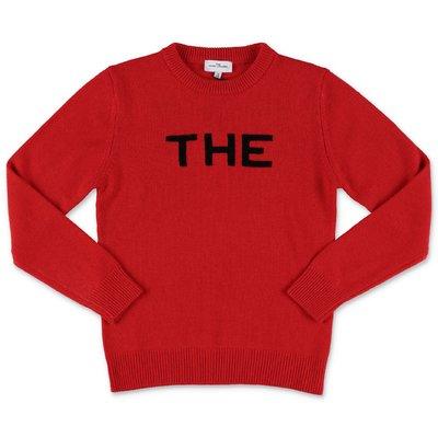 Little Marc Jacobs pullover rosso in maglia di lana e cashmere